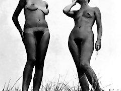 Vintage Hairy Girls