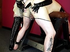 Punished by latex girl