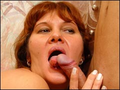 Lustful mature Sara riding young hard cockbr