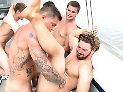 Gay sailors enjoy piece of navy cakes