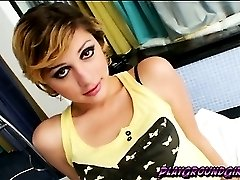 Cute and sexy tranny Eduarda Rodrigues loves her body