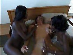 2 Ebony Babes 1 Lucky Guy