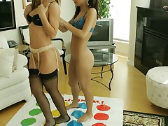 Twister girls in nylon