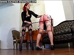 Painful Spanking Caning Sessions with a brutal Mistress
