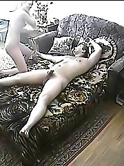 Lovers caught on spy cam having oral fun