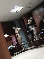 This spy cam was placed in the female checkroom the day before womans swimming tournament and...