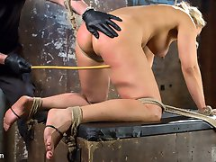 Angel is a Hogtied dream girl with her big tits, blonde hair, tan skin, and full figure. The one...