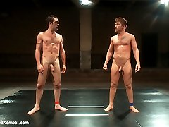 See the thrilling conclusion of DJ and Steve Sterling wrestle to the sex in Naked Kombat....