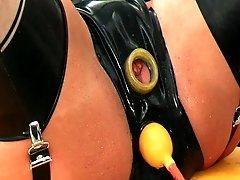 Rubber pee ass
