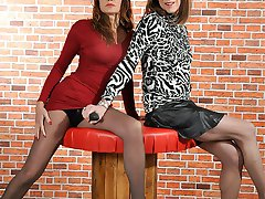 Crossdresser Emily Holiday craves Jane's huge strapon cock everyday, so today's her lucky day as she can finally get on the end of it