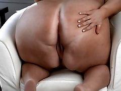 BBW Donna is showing off her tight vagina! The sexy blonde with great big tits has on her fancy...