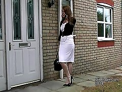 Alison walks to and from work each day in high heel court shoes and a tight skirt. She is always...