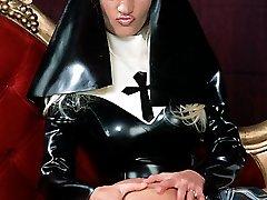 latex nun spanks and licks catholic schoolgirl