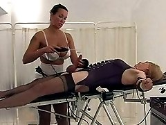 Filthy tranny has her cock shocked by Mistress Jane