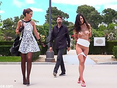 Part 1 Bondage Slut loves to be Tied Up in PublicCarolina Abril is a beautiful slut and ready to...