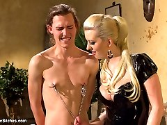 Garrett Nova is a 19 year old student who\'s parents pay his way through college. Problem is Garrett can\'t keep his pesky little hands off his cock and he\'s facing expulsion! His parents have had it with his perverted masturbation tendencies and sent him to the Divine Bitches instead of a traditional therapist for some EXTREME therapy. Mistress Cherry Torn is more than happy to bend this boy over, spank the hell out of him, lock his little cock away in chastity, fuck him in the ass and give him the cock tease of a lifetime.