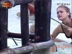 Nipple slip - beach girl
