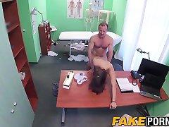 Amazing babe smashed by fake doctor