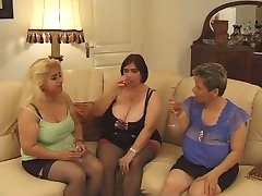 Hot chubby mature orgy