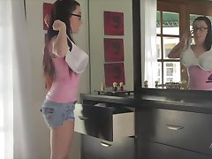 Naughty Maid Teases Parents