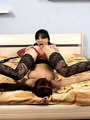 Fancy girlfriends licking and anal fisting each