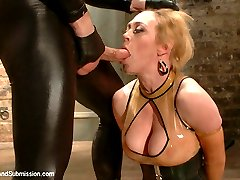 Sick of his bitchy new Dommes insults and attitude, this gimp gets loose and teaches her a...