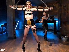 Latex dominatrix Bella Rossi uses tough slut Ella Nova for her sadistic pleasure! Ella enjoys...