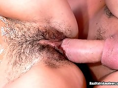 Fun with Brunette Teens Hairy Pussy
