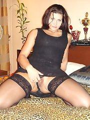 Nice stockings with or no panties shots
