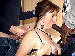 4 Movies - Jackie fucked by her boss and his buddy!