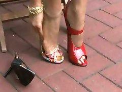 High heels fetish