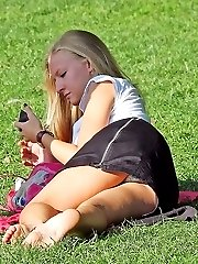 Sexy girls upskirts caught by camera