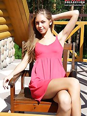 Girls smile voyeured on upskirt cam