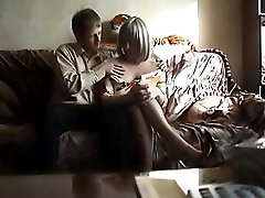 Lady caught on hidden cam making love