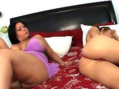 Busty lesbians