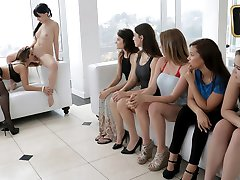 Lesbian Orgy  in Head Mistress In Charge - TeamSkeet