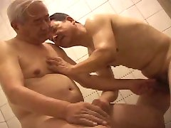 2  older men playing