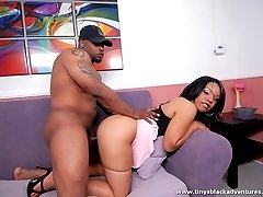Black chick enjoying big black cocks