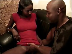 Black babe getting black pussy fucked