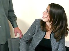 Sexy secretary is spanked by her boss