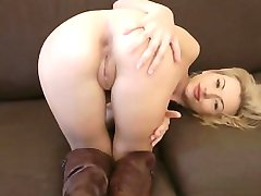 Horny cowgirl striptease