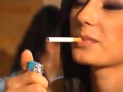 Smoking italian Hot Brunette