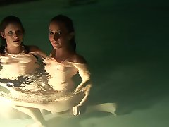 Hot Young Babes Play In The Pool - DreamGirls