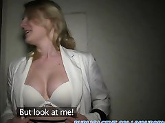 PublicAgent Short haired blonde has sex to win a competition