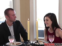Jenna has a rough sex after a romantic lunch with her man