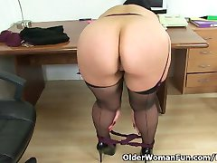 Britain's finest mature secretary Louise Bassett