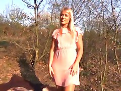 Perfect Blonde first time enjoying Public Sex