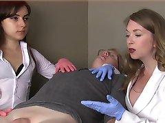 Female doctors humiliate small dick