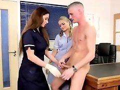 Fetish brit nurse facialized