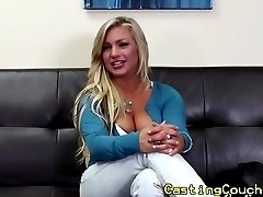 Real casting couch x blonde fingerfucked